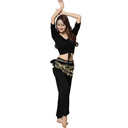 2pcs/3pcs Bauchtanz Kostüm Damen Tanzkleidung Training Oberteil und Hose Set Tanzoutfit Tanzkostüm/XL