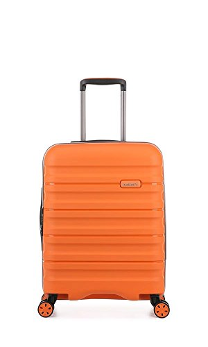Antler Juno II Brights, Durable & Lightweight Hard Shell Suitcase - Colour: Orange, Size: Cabin