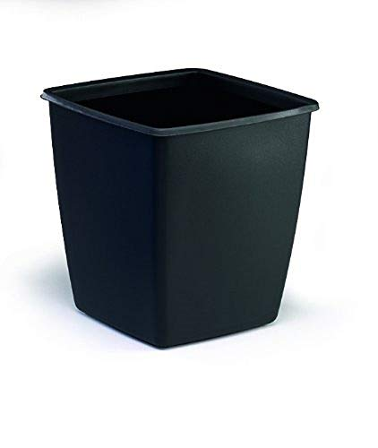 Durable 1701579221 - Cestino Gettacarte Optimo, Quadrato, Capacità 18 Litri, 300 x 320 x 300 mm, Nero