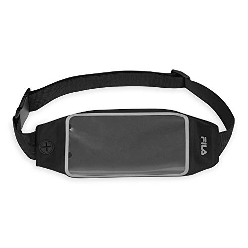 FILA Accessories Pochete para cinto de corrida | Bolsa esportiva ajustável com suporte de celular para mulheres e homens | Corrida, caminhada, ciclismo, exercício e fitness