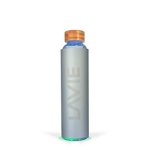 LaVie 2Go es un Purificador de Agua Compacto Innovador con luz UVA, que funciona Sin Consumibles. Transforme su Agua del Grifo en Agua Pura y Deliciosa en 15 minutos - Color aluminio - Capacid