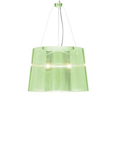 Kartell 9080P8 Ge Lampadario, Colore Verde trasparente, vetro