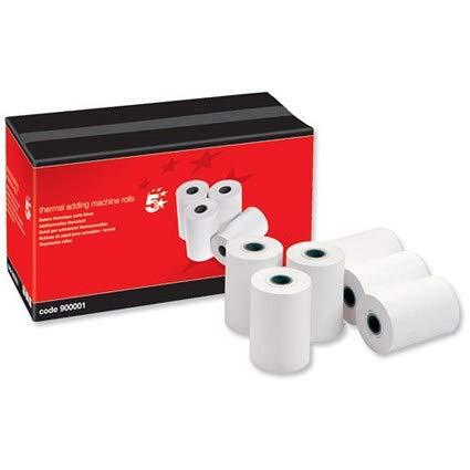 Gloednieuw. 5 Star Thermische Printer Rollen voor het afdrukken Calculator 57x40x12.7mm [Pack 20]