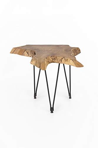 INDEX LIVING Teak Couchtisch 65cm Teakholz Holz Tisch Wohnzimmertisch Unikat Wurzel Natur