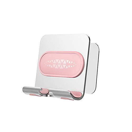 Handyhalterung, verstellbare Wandhalterung, für Küche, Badezimmer, Fitness & mehr, kompatibel mit allen Handys & Mini-Tablets (Pink)