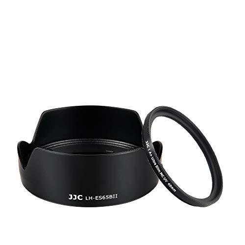 JJC - Paraluce a fiore a baionetta e set di filtri UV per obiettivo Canon RF 50mm F1.8 STM, sostituisce il paraluce originale Canon ES-65B