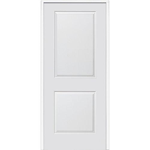National Door Company ZZ364282L Solid Core, Primed, Molded 2-Panel, Left Hand, Prehung Interior Door, 30