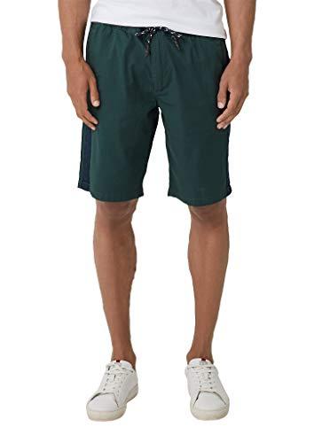 s.Oliver Herren 20.905.74.3710 Shorts, Grün (Cedar 6758), W(Herstellergröße: 32)