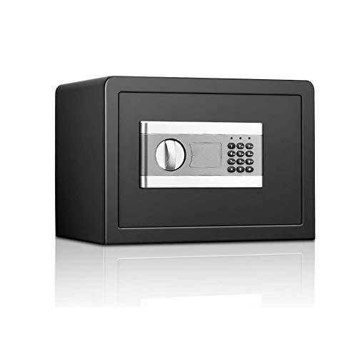 GGDJFN Combinazione di Sicurezza cassaforte Digitale Cash Box Small Acciaio di Sicurezza Lock con Indipendente o con Montaggio a Parete for L'Ufficio e casa 37 * 27 * 25,8 Centimetri Nero