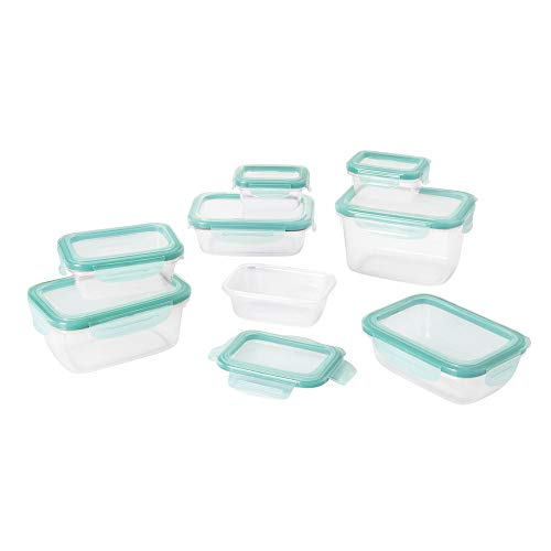 16-Piece Smart Seal Container Set with Leak Proof Snap On Lids. Best Choice for Home, Office, Lunch, Dinner, Restaurant, Catered Events, Pantry, Kitchen, BBQ, Open-air Kitchen
