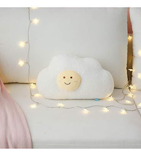 PBCX Cute Cartoon Plush Cloud Pillow Rellenos Clima Divertido Rainbow Thunder Throw cojín decoración para el hogar niños Juguete 40CM