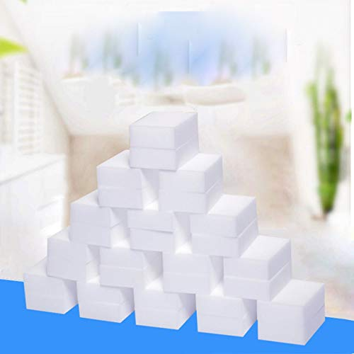 10 Pack Magic Cleaning Sponge Melamine Foam Eraser Stain Dirt Remover Multi-Functional Nano Sponge Respectueux de l'environnement - Blanc