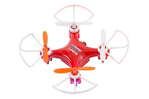 XciteRC 15007200 - Quadricottero radiocomandato Rocket 55XXS 3D, quadricanale, Ready To Fly, Colore: Rosso