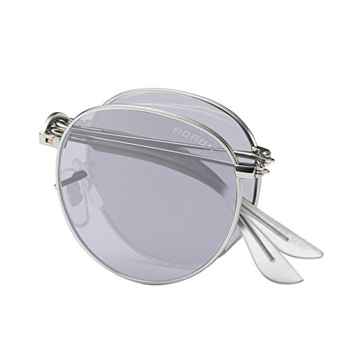 Fullnoon Plegable Browline Gafas de sol Unisex Verano Polarizado UV400 Protección Retro Gafas Al Aire Libre Deportes Golf Ciclismo Pesca Senderismo Gafas Gafas Gafas Gafas Gafas