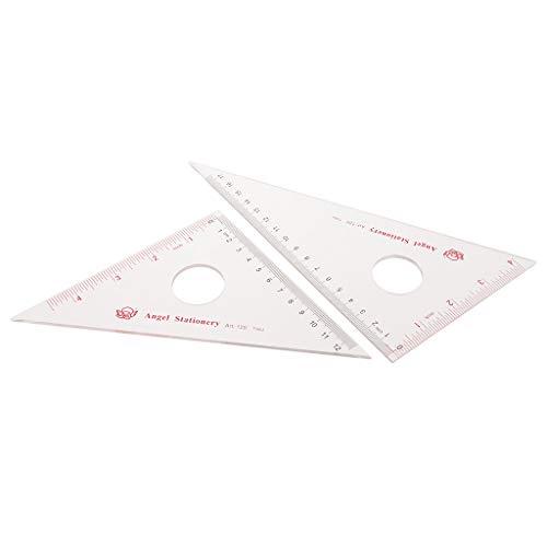 Colcolo 2 Unids / Set 30/60 45/90 Grados Geometría Triángulo Regla Transportador Herramientas