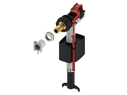TECE 9820353 Válvula cisternas (Altura de llenado Ajustable compacta, silenciosa), Negro