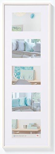 walther design KV515W New Lifestyle Galerie Bilderrahmen, 5 (10 x 15 cm), Weiß