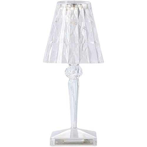 OIHODFHB Lámpara de Cama Simple Lámpara Red LED Táctil Lámpara de Mesa de Cristal de Diamante, Interruptor táctil