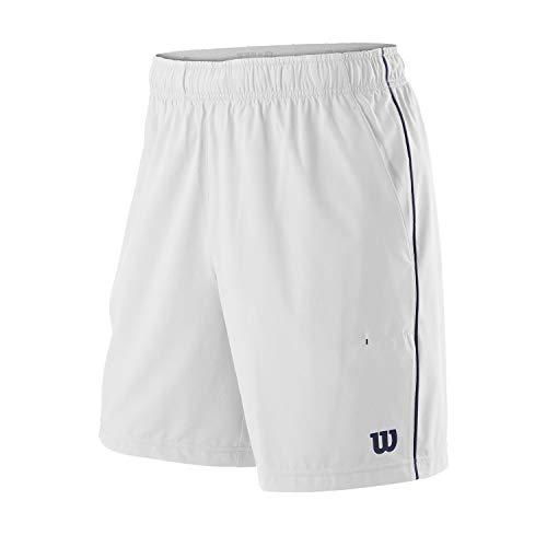 Wilson Hombre, M COMPETITION 8 SHORT, Pantalón corto de tenis, Poliéster/Elastano, Blanco,...