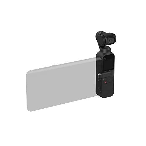 DJI Osmo Pocket + Wasserfestes Gehäuse - 3-Achsen Gimbal-Bildstabilisierung (1/2.3 Zoll Sensor mit 80° Sichtfeld und F2.0 Blende, Videoaufnahmen mit bis zu 4K Ultra HD bei 60 fps)