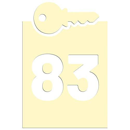 JasonCarlMorgan JCM Grafik Mülltonne auf Rollen Schlüssel Aufkleber - Creme, 190mm