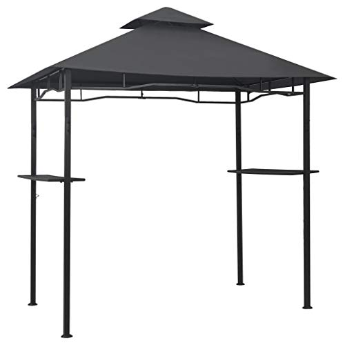 vidaXL BBQ Gazebo Weather Resistant Fire Retardant Barbecue Party Canopy Tent Patio Camping Sun Shade 240x150x255cm Anthracite Steel