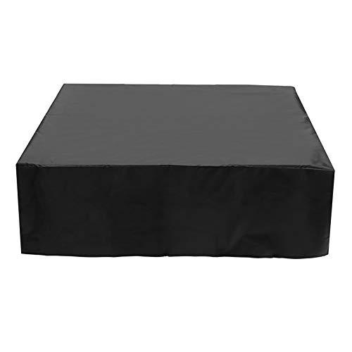 ASPZQ Cubierta para Muebles de Jardín Patio Cubierta Mesa Silla del Sofá Protector Patio Jardín Resistente Al Desgarro Fundas Ratán Impermeables, Varios Tamaños (Color : Negro, Size : 70×70×70cm)