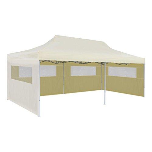 Carpa de jardín impermeable tienda de campaña para bodas, fiestas, color crema, plegable, 3 x 6 m, tipo J