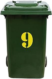 Kliko Sticker/Vuilnisbak Sticker - Nummer 9-16,5 x 22,2 - Geel