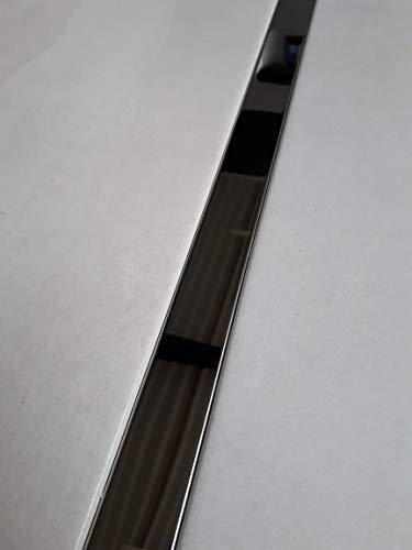 Edelstahl Profil Bordüre Glänzend im Format von 60 x 2,5 cm Fliesen Fliesenschiene