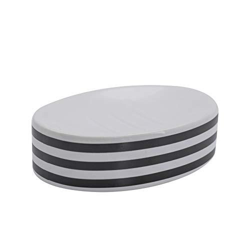 Harbour Housewares Articles ménagers Port en céramique émaillée Savon Saver Vaisselle - Noir Stripe