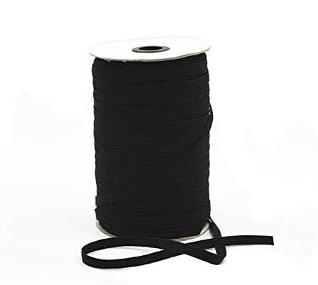 CIUJOY Black Elastic String Cord Bands Rope 1/8 Inch 180 Yards Heavy Stretch High Elasticity Knit Elastic Band for Sewing Crafts(Black 3mm)