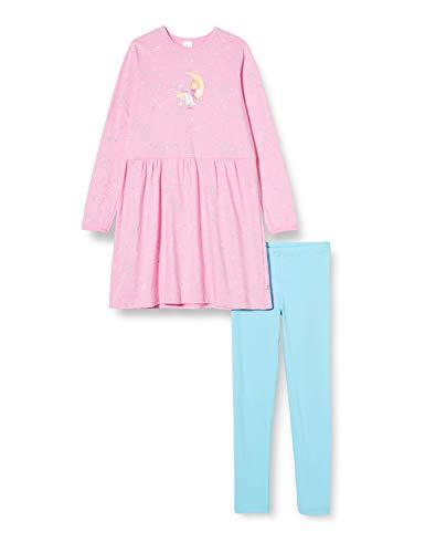 Schiesser Mädchen Prinzessin Lillifee Md Schlafanzug lang Pyjamaset, rosa, 98