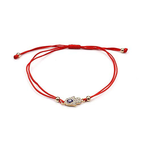 LWSHOP LYRStore886 Pulsera de la Pulsera del Encanto del Encanto del Hilo Rojo Delgado. Pulsera Abrazadera Mano de Obra Exquisita, práctica (Color : 1)