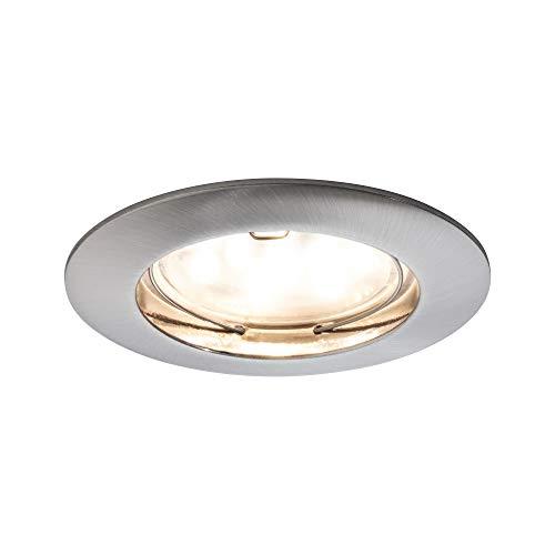 Paulmann 927.57 Premium EBL Set Coin klar rund starr LED 3x6,8W 2700K 230V 51mm Eisen gebürstet 92757 Spot Einbaustrahler Einbauleuchte