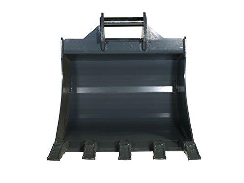 VOLLHARDOX Baggerlöffel Tieflöffel bis 4.0t 700mm MS03 alle Verschleissteile aus Hardox mit 5 geschweissten Zähnen