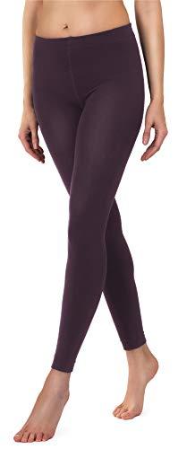 Merry Style Damen Thermo Leggings mit Innenfleece 24550 Extra Warm (Weinrot-2, 38-40)