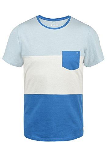 Blend Nemo Herren T-Shirt Kurzarm Shirt Streifenshirt Mit Streifen Und Rundhalsausschnitt, Größe:XL, Farbe:Nautical Blue (74632)