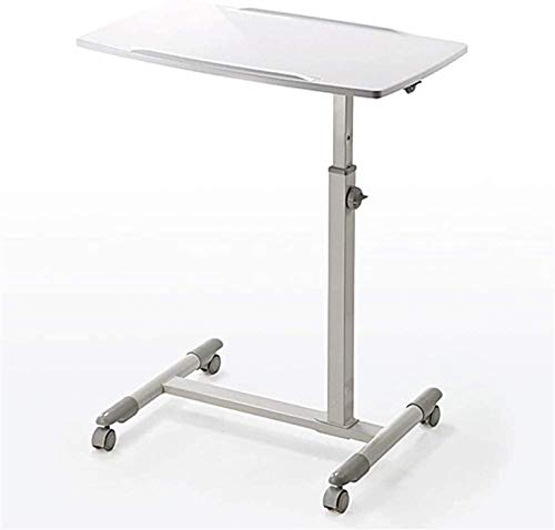 WNN-URG Machinery Parts Adjustable Laptop Desk Rolling Lectern Podium Carts Portable Table Sofa Breakfast Tray Side Table Lecterns WNN-URG (Color : White)