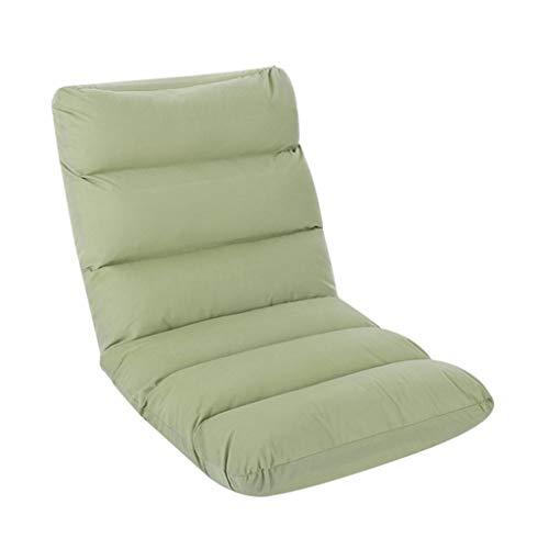 LSRRYD Faltbar Gepolstert Bodenstuhl Stuhl Mit 5-Position Einstellbar Rückenlehne Dickes Sitzkissen Faule Couch Meditationsstuhl Gaming-Stuhl (Color : Fruit Green)