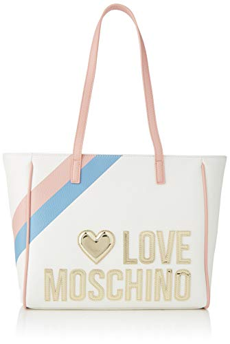 Love Moschino Jc4288pp0a, Borsa a Spalla Donna, Multicolore (White...