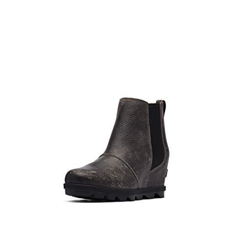 Sorel Women's Joan of Arctic Wedge II Chelsea Boot - Light Rain - Waterproof - Quarry - Size 6.5
