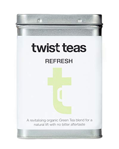 Twist Teas REFRESH | Sencha Green Tea | A revitalising organic blend for a natural lift with no bitter aftertaste. (Large Refill 100 Teabags)