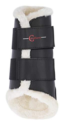 Kerbl 3210549 Dressurgamaschen Fleece vorne schwarz, L