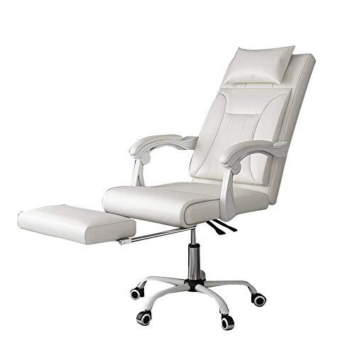 MHIBAX Gaming Chair Sedia daufficio direzionale con poggiapiedi, sedia da ufficio in pelle con schienale alto, pelle testurizzata e schienale segmentato ergonomico, adatta