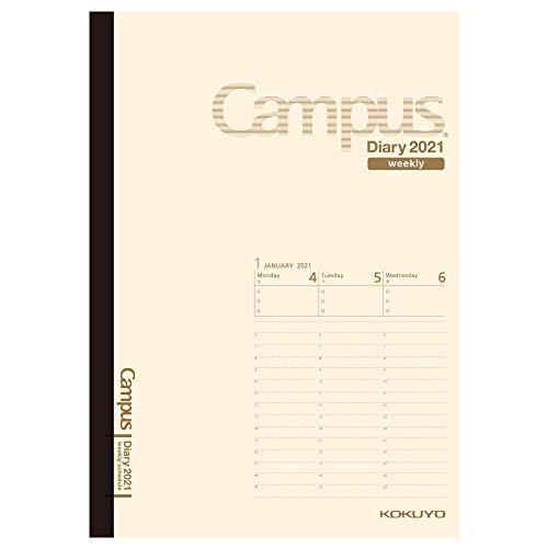 コクヨ キャンパスダイアリー 手帳 2021年 B6 ウィークリー クリーム ニ-CWVLS-B6-21 2021年 1月始まり