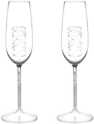 copa Casual 2-PC Vino Vino 250ml Cocktail De Vidrio Creativo Más para El Aniversario De Boda Lostgaming (Color : Default)