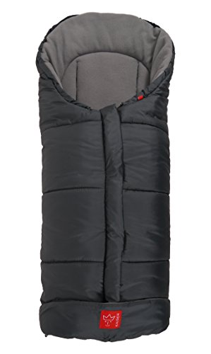 Kaiser Iglu Thermo Fleece Fußsack, anthrazit hellgrau