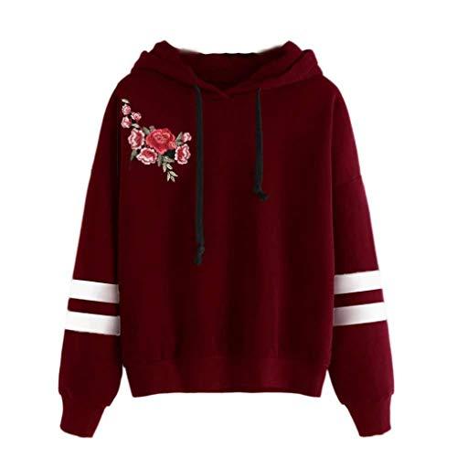 Leey Damen Pullover Streifen Casual Mädchen Kapuzenpullover Hoodie Sweatshirt Hoodies Elegant Kleidung Pullis Sweatshirt Streetwear Winterpullover Hip Hop Coole Klamotten …