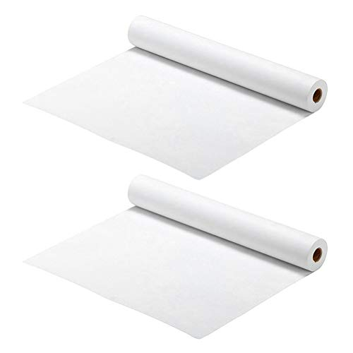 TOYANDONA 2 Piezas de Rollo de Papel de Dibujo Rollos de Papel de Caballete Que Dibujan Rollo de Papel Póster Papel Artesanal Rollo de Papel Papel de Envolver 1000X22. 5 Cm (Blanco)